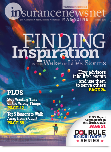 InsuranceNewsNet Magazine August 2016 Cover